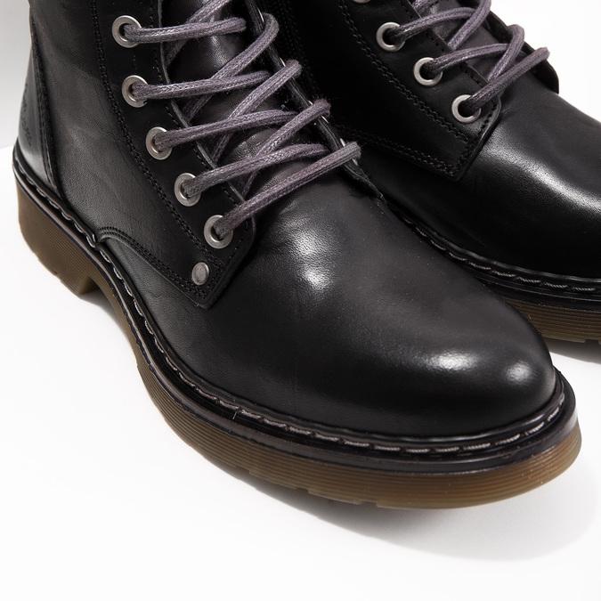 Kožená dámska členková obuv bata, čierna, 594-6681 - 14
