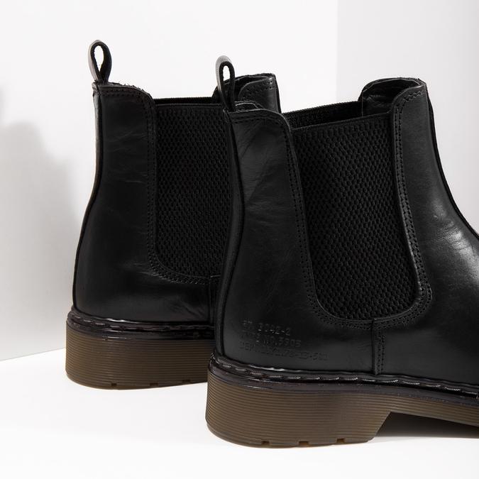 Kožená dámská Chelsea obuv bata, čierna, 594-6680 - 14