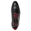 Kožené poltopánky s červenými detailami conhpol, čierna, 824-6993 - 15