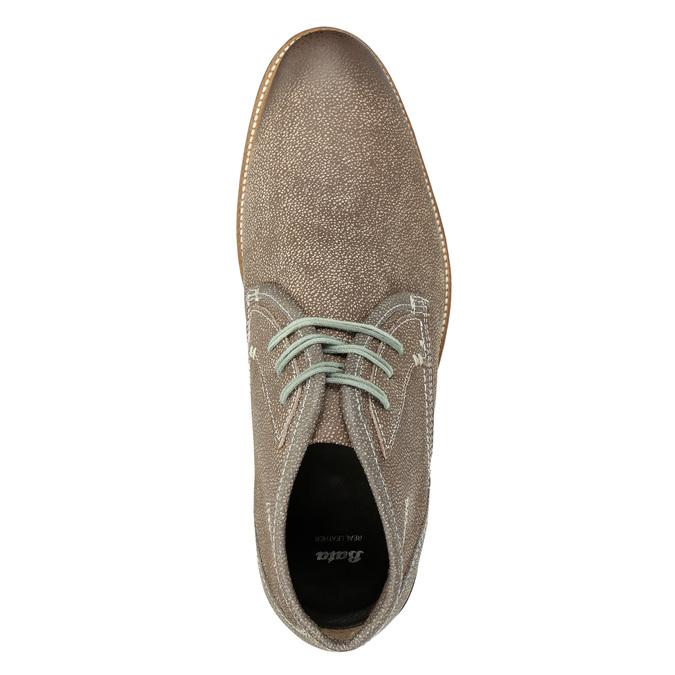 Pánska členková obuv s prešívaním bata, hnedá, 826-4920 - 15