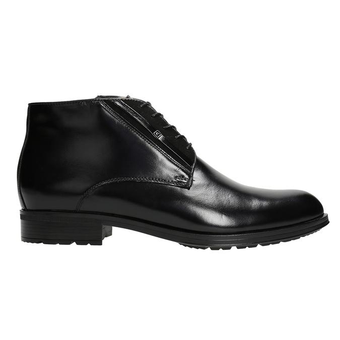 Kožená pánska obuv so zateplením conhpol, čierna, 894-6700 - 26