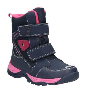 Dievčenské zimné topánky na suchý zips mini-b, modrá, 491-5653 - 13