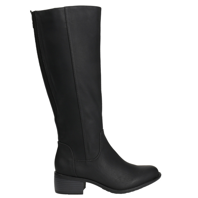 Dámske čižmy na nízkom podpätku bata, čierna, 691-6600 - 15