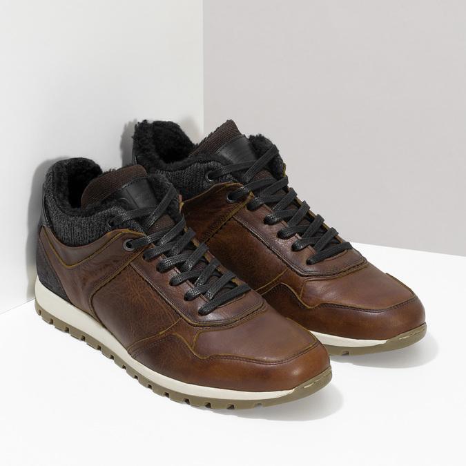 Kožená zimná obuv bata, hnedá, 846-4646 - 26