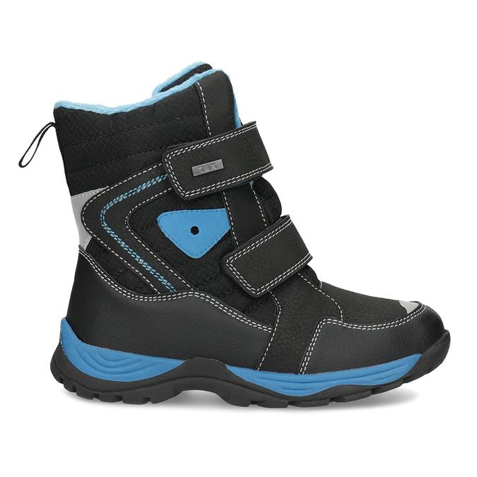 Detská zimná obuv na suchý zips mini-b, čierna, 491-6653 - 19