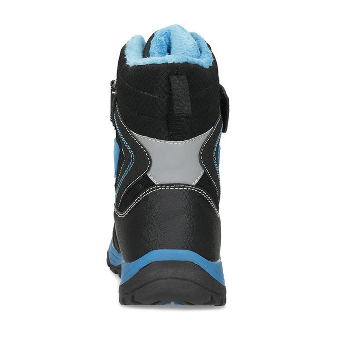 Detská zimná obuv na suchý zips mini-b, čierna, 491-6653 - 15