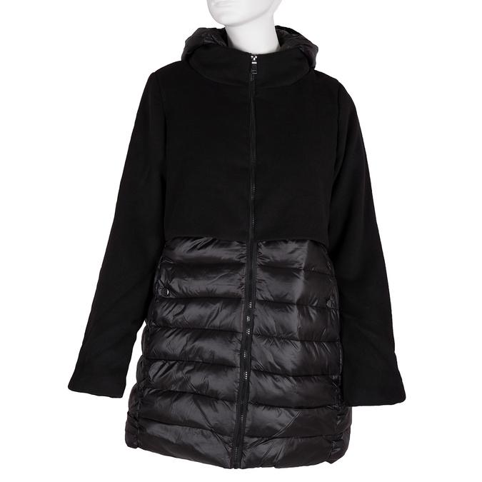 Dámska bunda s kapucou bata, čierna, 979-6163 - 13