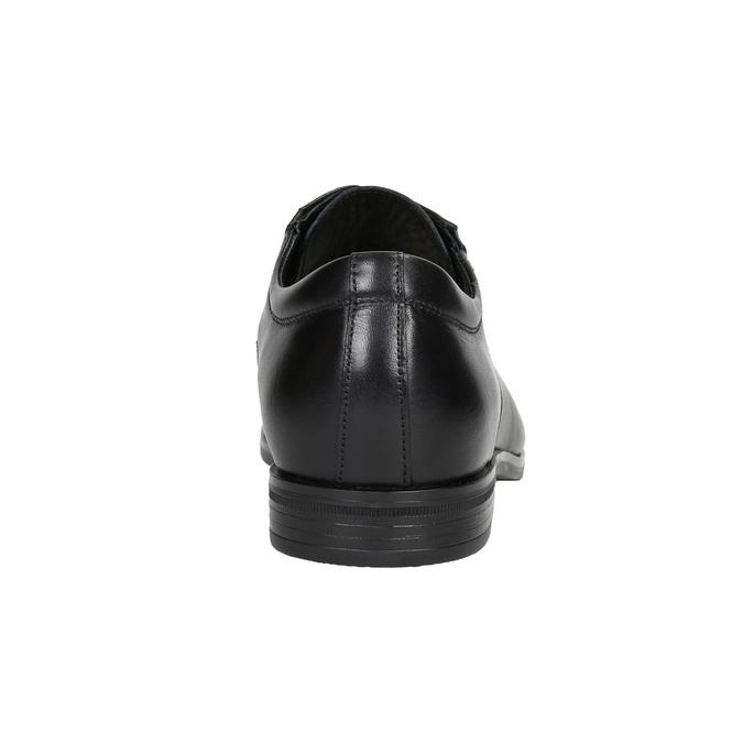 Pánske kožené Derby poltopánky conhpol, čierna, 824-6990 - 16