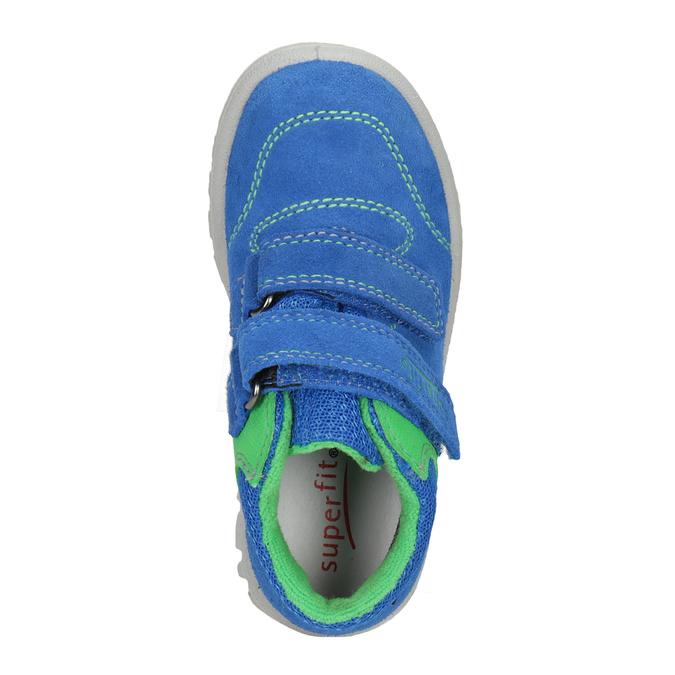 Kožená detská obuv na suchý zips superfit, modrá, 113-9036 - 15