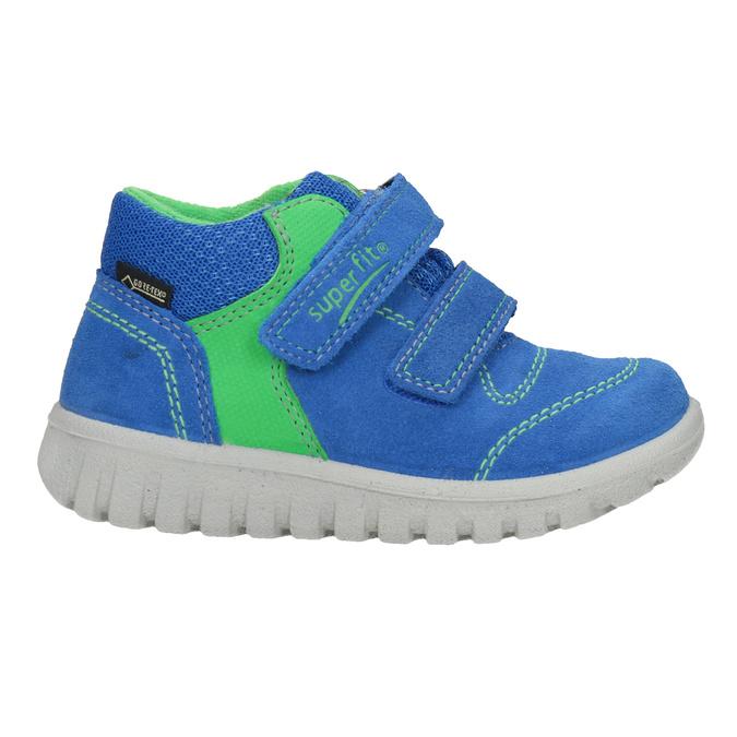 Kožená detská obuv na suchý zips superfit, modrá, 113-9036 - 26