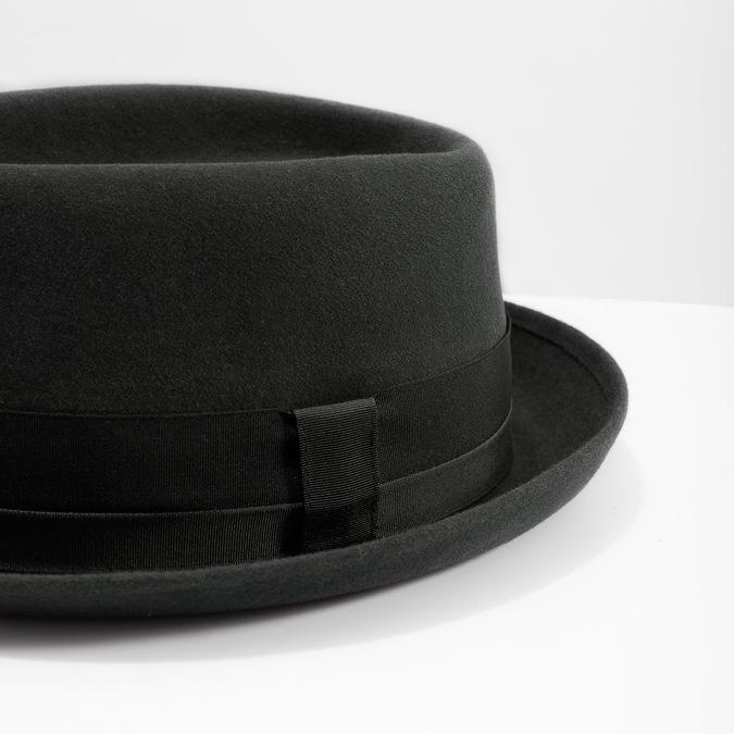 Pánsky klobúk so stuhou tonak, šedá, 909-2647 - 14