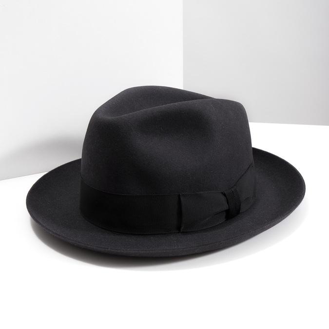 Čierny pánsky klobúk tonak, šedá, 909-2646 - 18