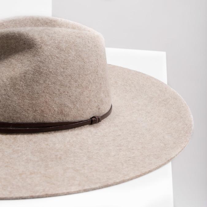 Dámsky vlnený klobúk tonak, béžová, 909-8652 - 14