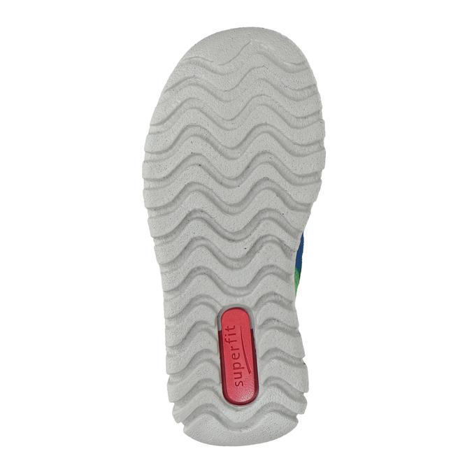 Kožená detská obuv na suchý zips superfit, modrá, 113-9036 - 17