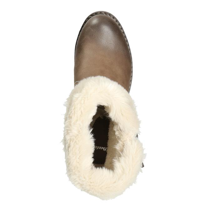 Členková obuv s kožúškom bata, hnedá, 691-2633 - 26