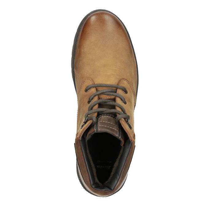 Pánska zimná kožená obuv bata, hnedá, 896-3681 - 15