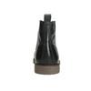 Kožená členková obuv so zateplením bata, čierna, 896-6662 - 17