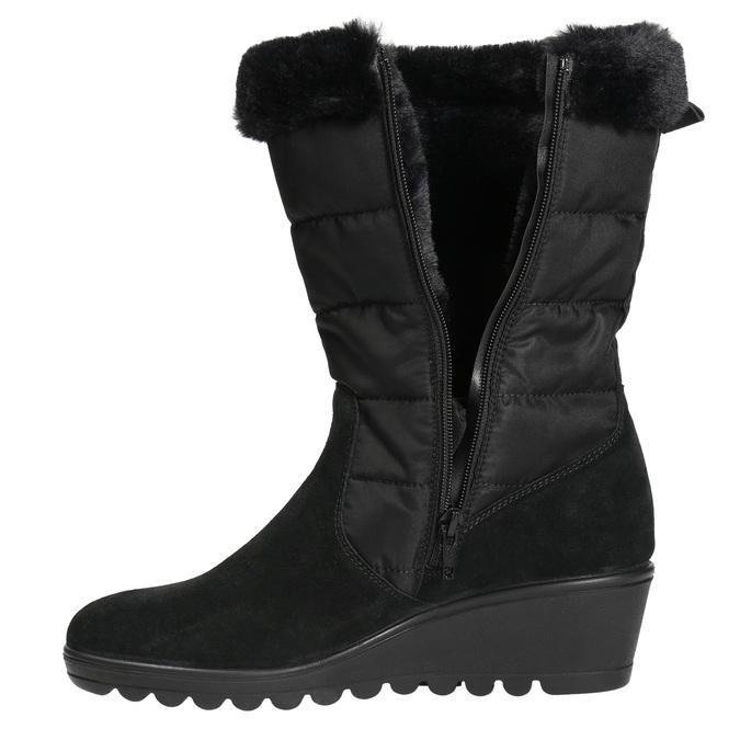 Dámska zimná obuv comfit, čierna, 696-6624 - 26
