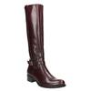Kožené čižmy s prackou bata, červená, 596-5665 - 13