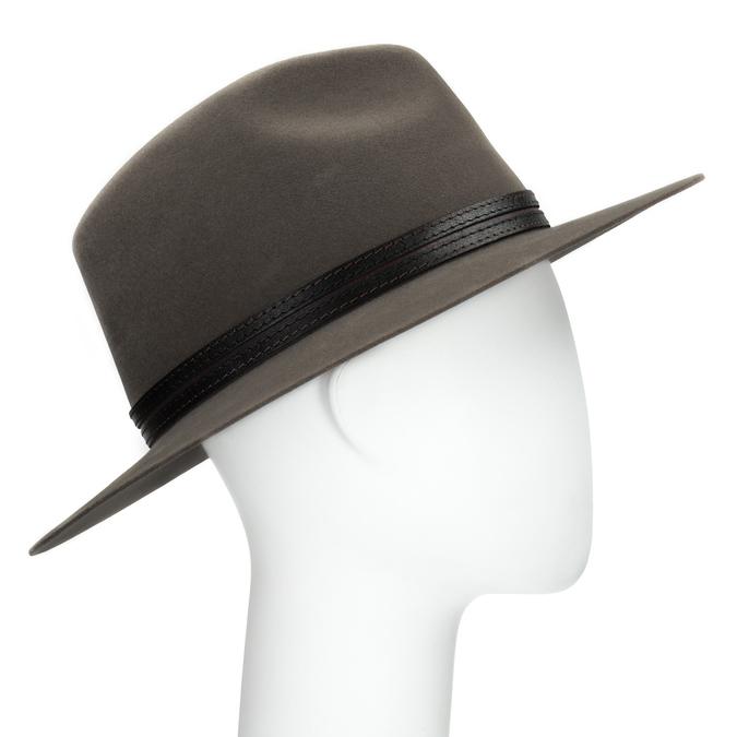 Pánsky klobúk z králičej srsti tonak, hnedá, 909-3650 - 13