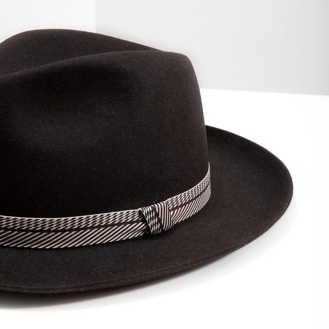 Tmavo hnedý pánsky klobúk tonak, hnedá, 909-4654 - 14