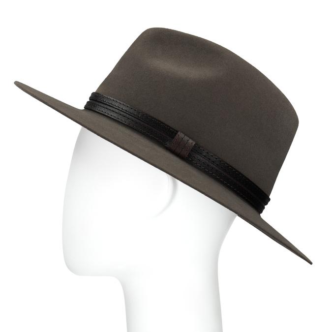 Pánsky klobúk z králičej srsti tonak, hnedá, 909-3650 - 26