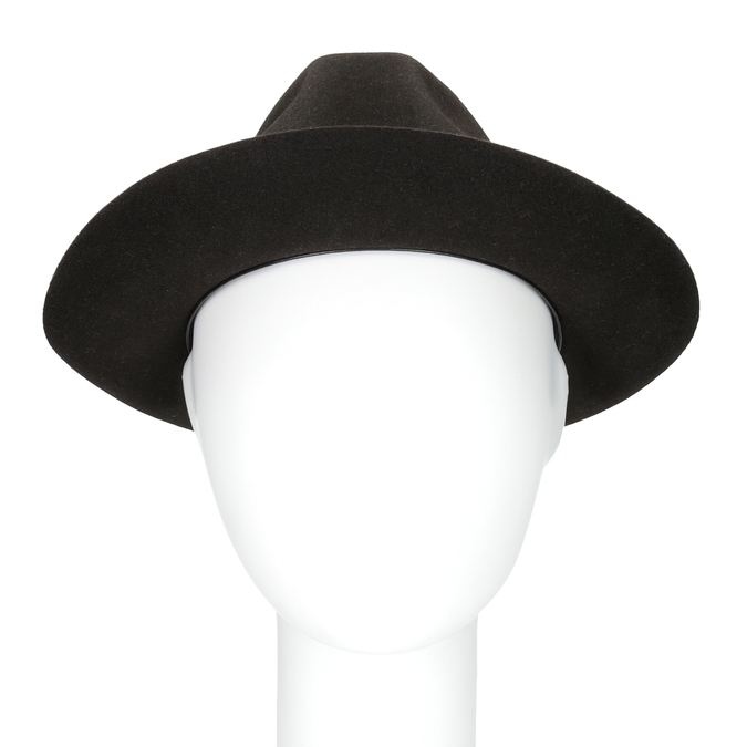 Tmavo hnedý pánsky klobúk tonak, hnedá, 909-4654 - 16