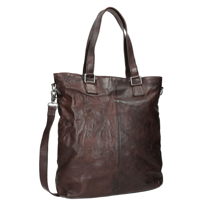 Hnedá kožená kabelka bata, hnedá, 964-4245 - 13