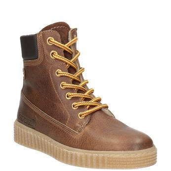 Hnedá detská zimná obuv mini-b, hnedá, 496-4620 - 13