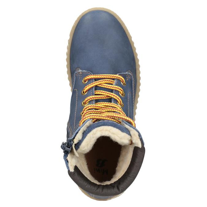 Detská zimná obuv so zateplením mini-b, modrá, 496-9620 - 15