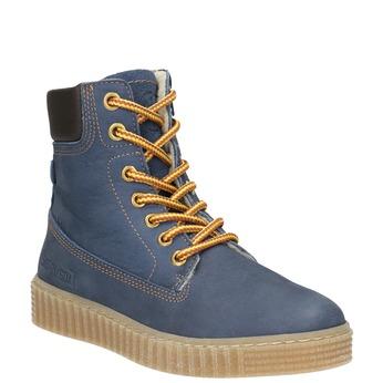 Detská zimná obuv so zateplením mini-b, modrá, 496-9620 - 13