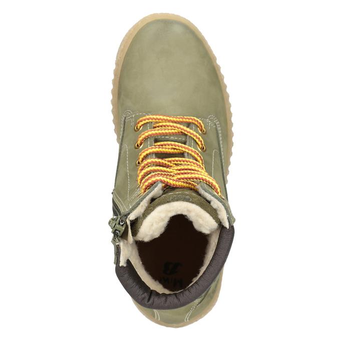 Detská zimná obuv so zateplením mini-b, zelená, 496-3620 - 15