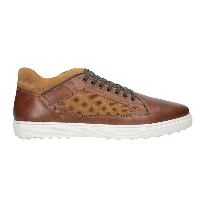 Pánske kožené tenisky bata, hnedá, 846-3643 - 26