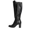 Kožené čižmy na podpätku bata, čierna, 794-6648 - 26