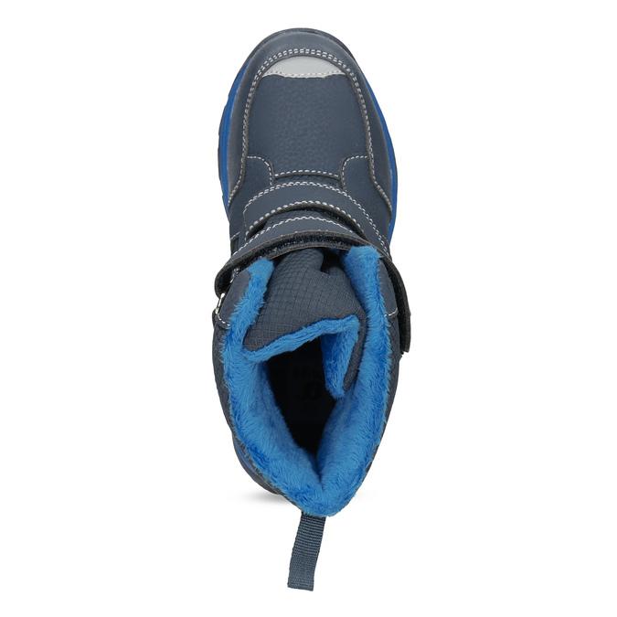 Detská zimná obuv na suchý zips mini-b, modrá, 491-9653 - 17