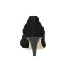 Kožené lodičky s otvorenou špicou bata, čierna, 623-6603 - 16