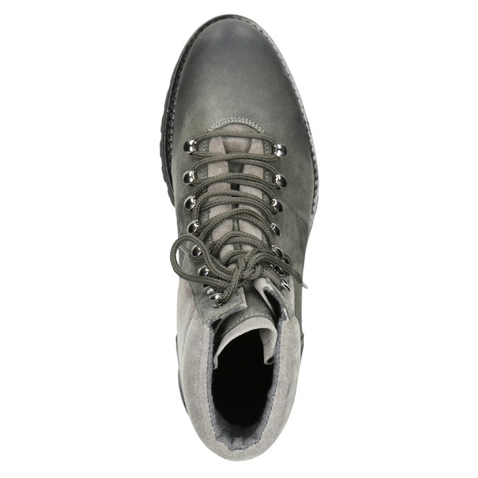 Členková dámska kožená obuv weinbrenner, šedá, 596-2672 - 15