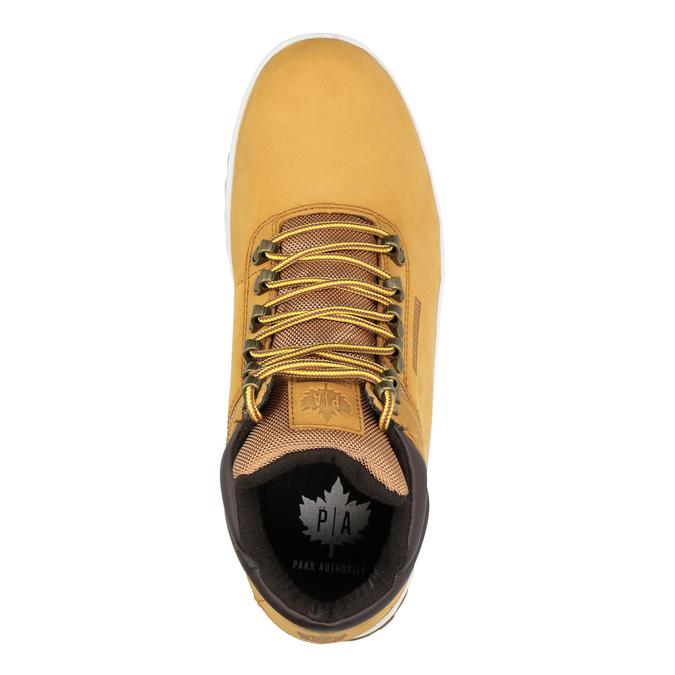 Kožená pánska zimná obuv k1x, hnedá, 806-3495 - 15