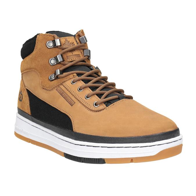 Pánska kožená členková obuv k1x, hnedá, 806-4552 - 13