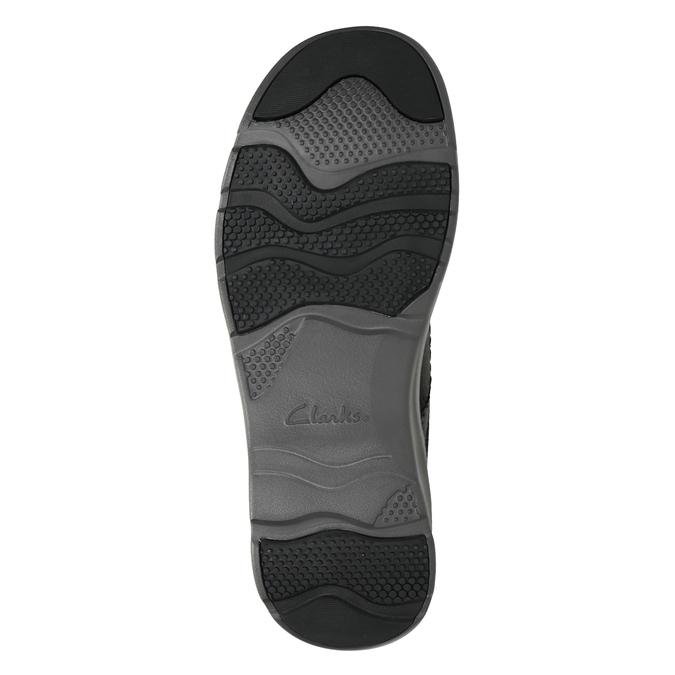 Pánske kožené poltopánky s prešitím clarks, čierna, 826-6024 - 17