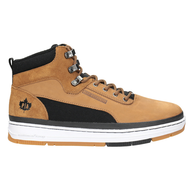 Pánska kožená členková obuv k1x, hnedá, 806-4552 - 26