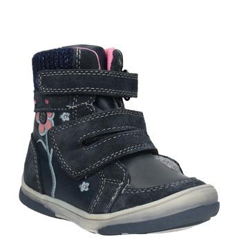 Detská kožená zimná obuv bubblegummers, modrá, 124-9602 - 13