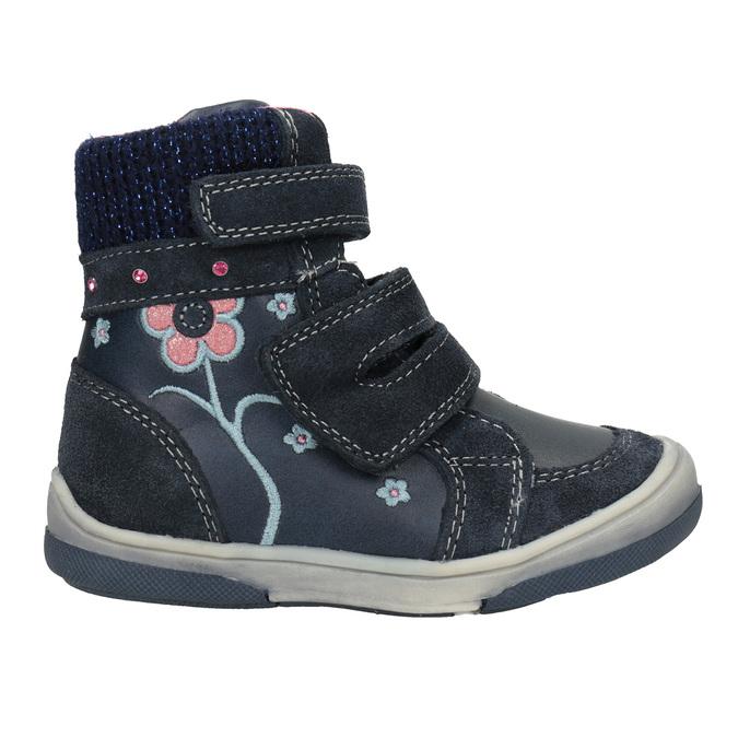 Detská kožená zimná obuv bubblegummers, modrá, 124-9602 - 26