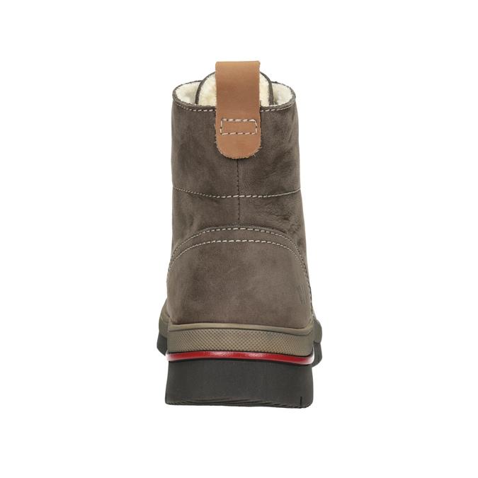 Kožená dámska zimná obuv weinbrenner, hnedá, 596-4666 - 16