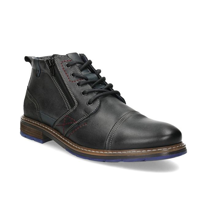 Pánska kožená členková obuv so zipsom bata, šedá, 896-2678 - 13