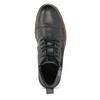 Pánska kožená členková obuv so zipsom bata, šedá, 896-2678 - 17