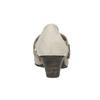Kožené lodičky šírky H bata, šedá, 623-2600 - 16
