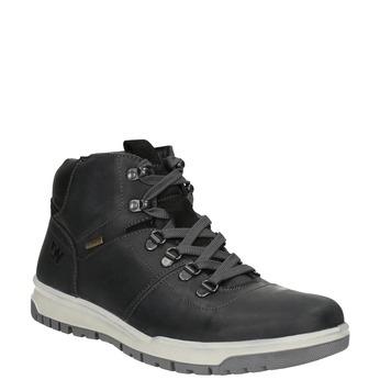 Pánska kožená zimná obuv weinbrenner, čierna, 896-6701 - 13