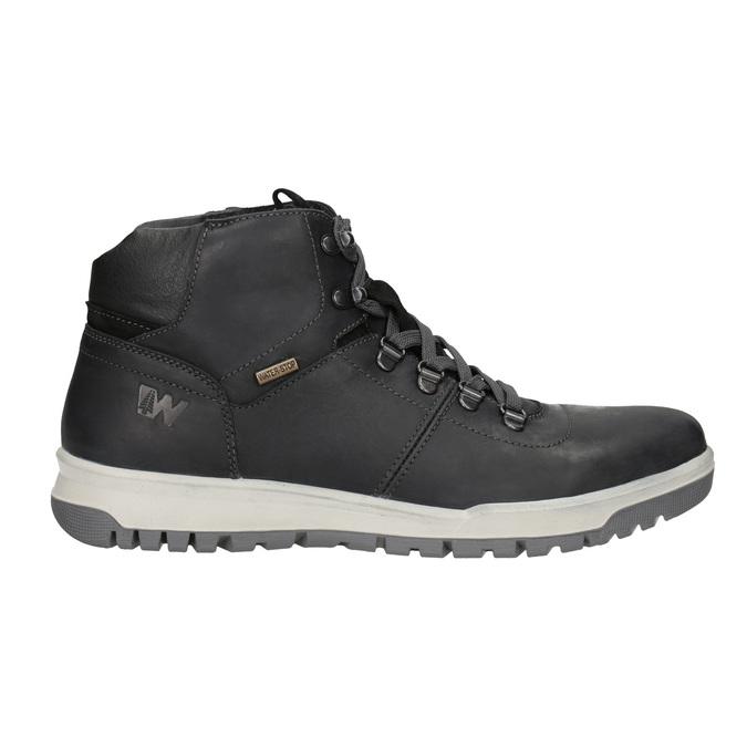 Pánska kožená zimná obuv weinbrenner, čierna, 896-6701 - 26