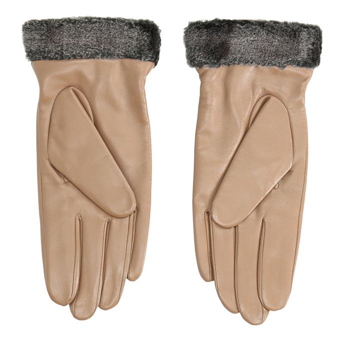 Dámske kožené rukavice béžové bata, béžová, 904-4112 - 16